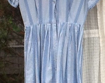 Vintage Blue and White Dress