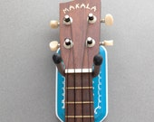Instrument Wall Hanger Hook for Ukulele, Fiddle, Mandolin, Violin or Guitar - Ready to Ship - Turquoise Rectangle