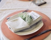 Set of 6 Wooden Placemat Chargers - Distressed Round, Choose your Color