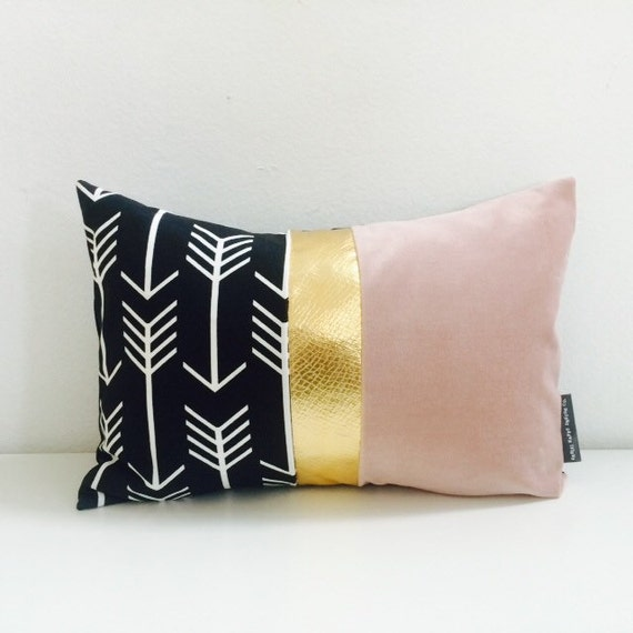 Black and White Arrow Pillow Cover 13x18 Lumbar