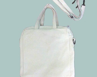 Canvas Purse, Tablet Bag/Carrier, Cosmetic Case - printed with ANY SHOP IMAGE! - Removable, Adjustable shoulder strap,