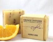 Orange + Lavender - 4.5oz Artisanal Body Soap. (Vegan & Palm Oil Free)