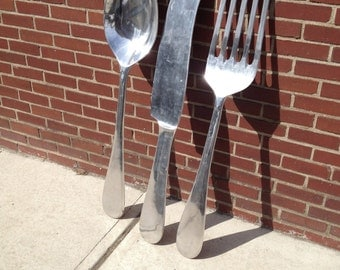Oversize Spoon, Knife, Fork Set - 48 Inches High