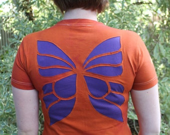 Faerie/ Faery Wing Purple and Orange Tshirt