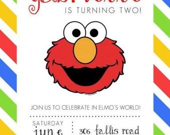 Elmo Sesame Street Invitations