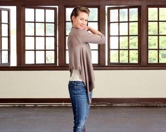 Eco clothing, Plus size cardigan, Drape cardigan, Eco wear