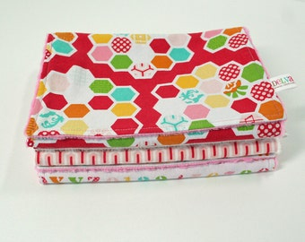 Minky Burp Cloths, 3 Girl Minky Burp Cloths, Girl Baby Gift Set, Baby Burp Cloths, Girl Burp Cloths, Simply Sweet, READY to SHIP