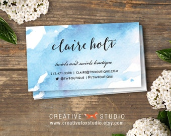 Watercolor Business Card Printable - Calling Card