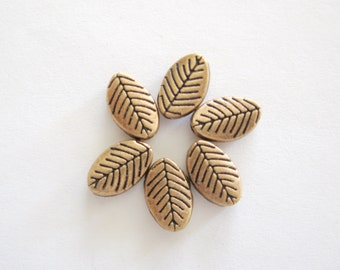 Copper Leaf Charms or Findings-Copper Jewelry Findings-Copper Jewelry Components-Copper Leafs-Copper Leaf