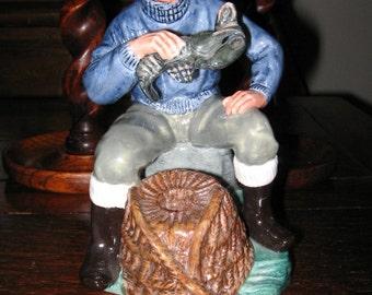 ROYAL DOULTON The LOBSTER Man Figurine, Fisherman, Nautical Porcelain Figure