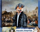 Shiba inu Art CANVAS Print Fine Artwork of Nobility Dogs Dog Portrait Dog Painting Dog Art Dog Print