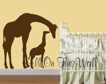 Giraffe Wall Decal Nursery Baby Boy Girl Nursery Vinyl Wall Decals Nursery Decor