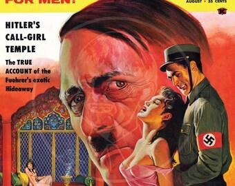 Exposé (Aug 59) - 10x13 Giclée Canvas Print of a Vintage Pulp Detective Magazine Cover