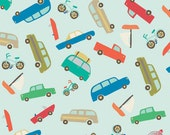 140125697 - Scenic Route - Blue Vehicles Quilting Cotton Fabric - Sold by the yard