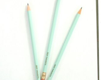 14  custom engraved pencil pack. 1 quote. Please read listing. custom gift. multiple colors available.