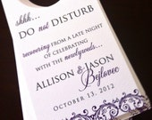 Wedding Hotel Door Hangers - Wedding Door Hangers - Wedding Guest Bags - Door Tags - Do Not Disturb