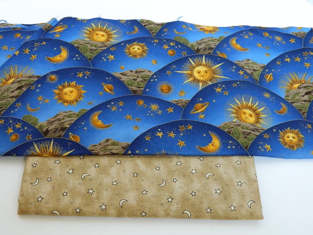 Stars and moon fabric blue cotton fabric sewing for Star fabric australia