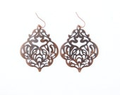 Teen Gril Gift, Lacy Earrings, Filigree Jewelry, Copper Jewelry, Boho Jewelry, Western Jewelry, Teen Jewelry, Gifts Under 25, Large Earrings