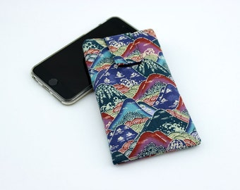 iPhone 6 sleeve, Mobile Phone Cover,fabric iPod cover,handmade iphone case,Mountains