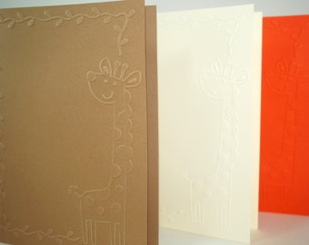 "Giraffe Cards, Blank Cards, Cute Giraffe Cards, Animal Cards, Giraffe Blank Cards, Giraffe Vine Card, 5""x7"" Cards, A7 Cards, Zoo Animal Card"