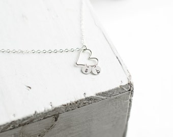 Dainty Heart Necklace | Sterling Silver Initial Jewelry