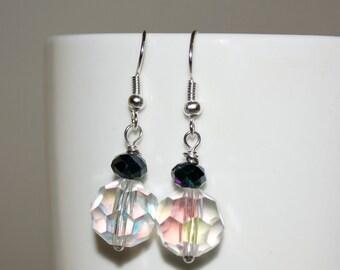 Bridal Jewelry, Clear Crystal Dangle Earrings, Crystal Bridesmaid Earrings, Beaded Jewelry, Wedding Jewelry, Drop Earrings, Bridesmaid Gift