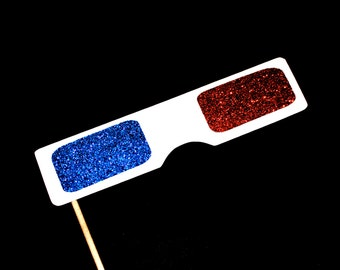 Photo Booth Props - GLITTER 3D glasses - Birthdays, Weddings, Parties - Photobooth Props