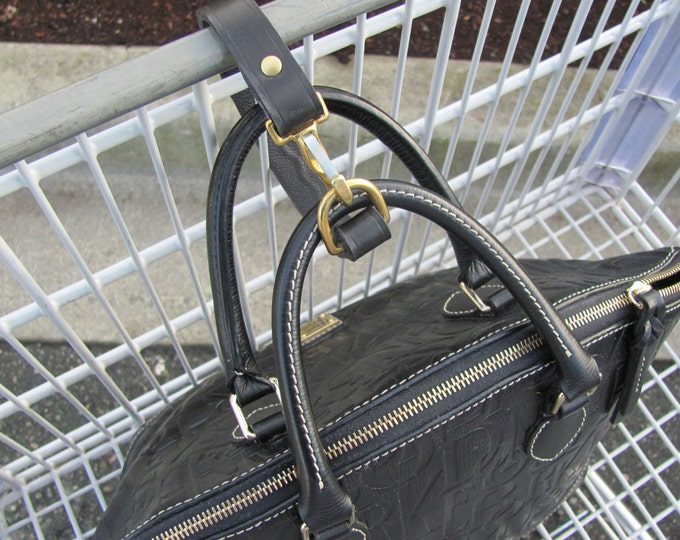 hand bag security straps. theft protection straps, slash proof bag straps.purse straps,  leather lanyards. straps, shopping cart security
