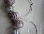 Glass Ball Bubble Earrings
