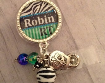 X-Ray Tech ID Badge / Rt / Nurse / Rn / CT Scan / Doctor / medical team/ Radiology technician / stethoscope / Postal Worker / Badge Bling //