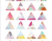 Triangles Art Journaling Mixed Media Stickers 3