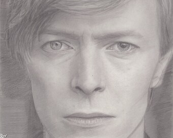 The Beautiful David Bowie - Black&White Face Study 8.5x11 Print