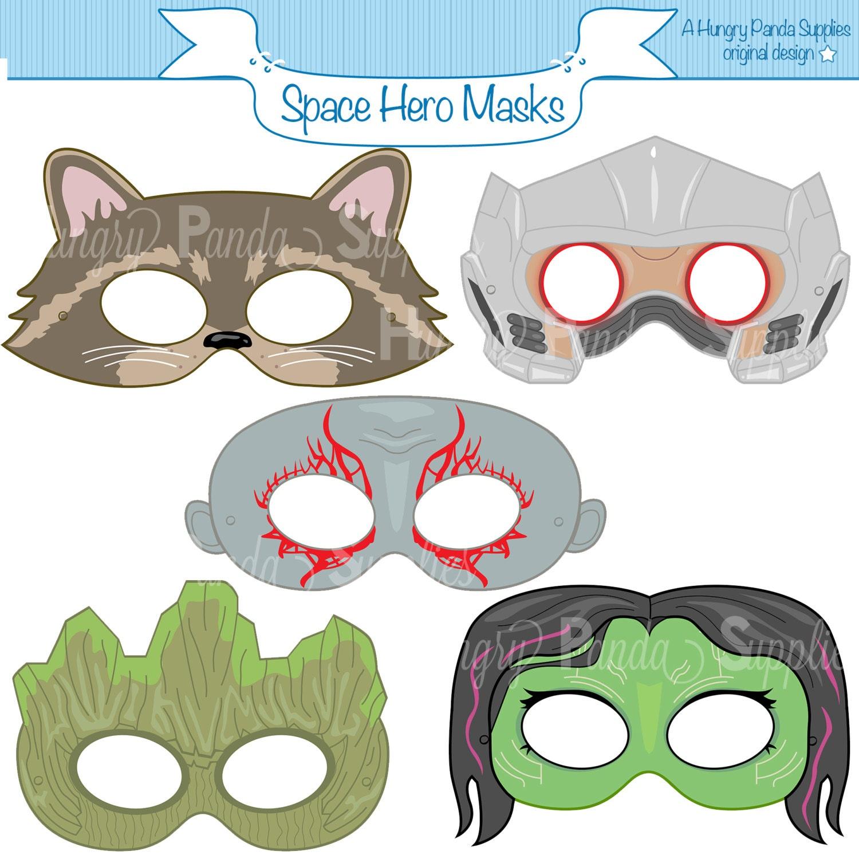 space hero printable masks hero masks printable masks alien