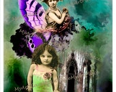 Digital Art, Digital Download, Fairy, Fairy Fantasy, Collage, Altered Art, Woods, Forest