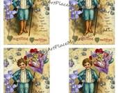 Valentines Day Card, Digital Valentine, Victorian Valentine, Love, Vintage Valentine, Valentine Collage, Anatomical Heart