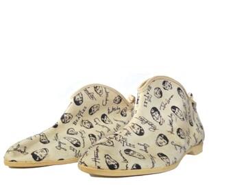Vintage Beatles Shoes Wings Dings White High Tops Slip On - Memorabilia 1964 - Collectible Beatles Vintage