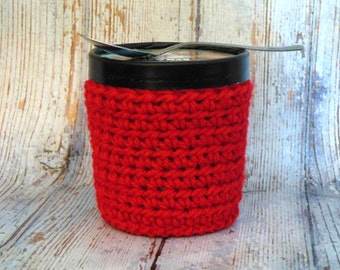 Any Color - Ice Cream Cozy - Crochet Pint Cover - Crocheted Pint Cozy - Ice Cream Pint Coozy - Pint Sleeve -