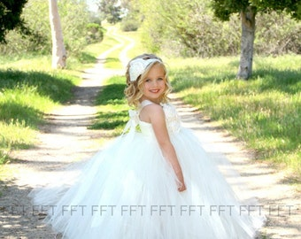 Ivory Flower Girl Dress, Tutu Dress