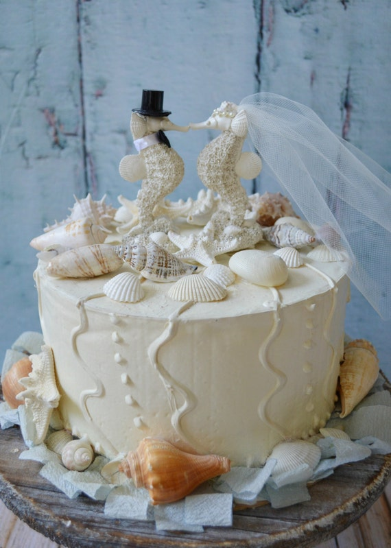 sea wedding cake toppers sea wedding cake topper groom seahorse 19732