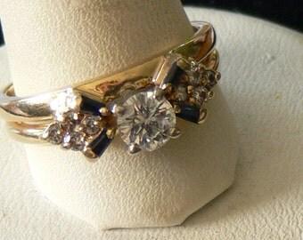 Diamond WEDDING Ring size 7 1/2