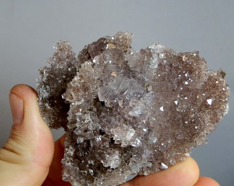 Druzy Amethyst Quartz Crystal Cluster Specimen As Mined Rough Display Specimen 3 inch Druzy on all sides Brazilian Mineral DanPickedMinerals