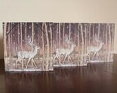 Set of 3 Deer Greetings Cards