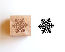 Snowflake Stamp, Christmas Stamp, Winter Snowflake, Wood Mounted Rubber Stamp for Gifts, Cards, Scrapbooking, Packaging