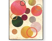 "Modern Art Print, Colorful Art, Geometric, Abstract, Eclectic Art, Bubbles, Wall Decor, Trending Art, ""Circles"""