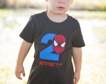 Personalized  Classic Spider-man Birthday Shirt