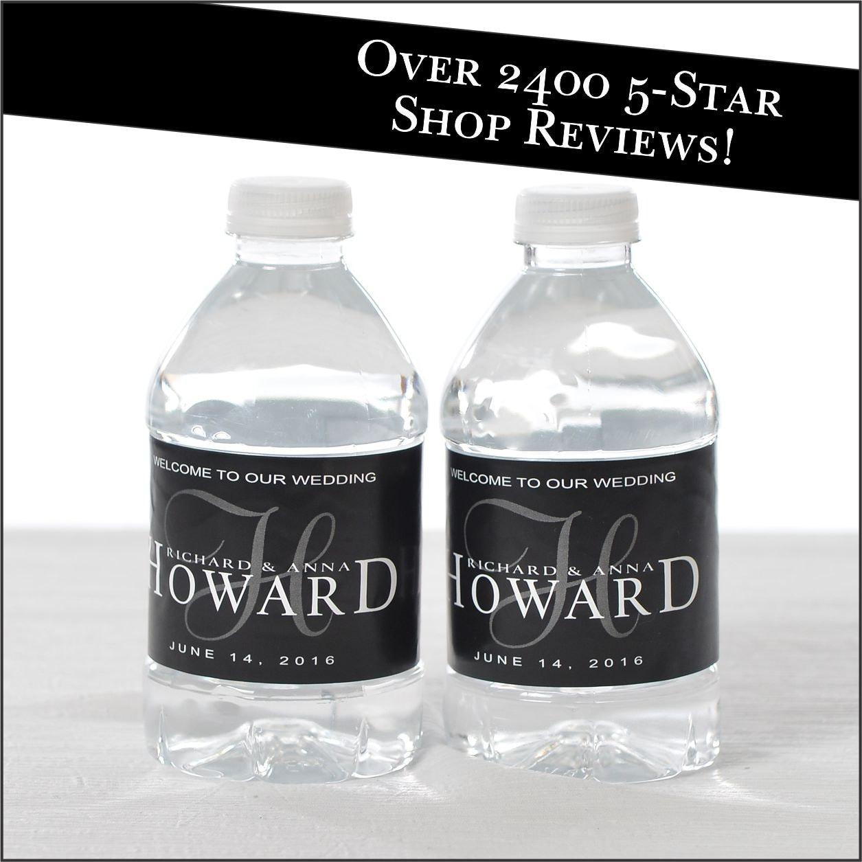 30 wedding water bottle labels wedding favors vintage