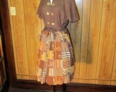 PATCHWORK 1940's/50's POLKA DOT Day Dress