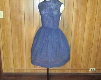 On Sale-ANIMAL PRINT Blue & Black DAY Dress