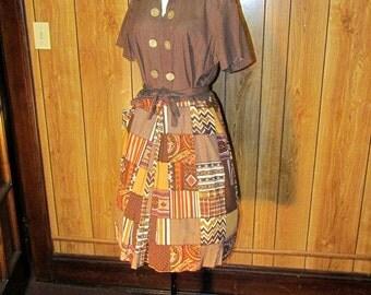 On Sale-PATCHWORK 1940's/50's POLKA DOT Day Dress