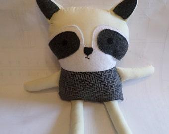 Made to Order stuffed animals, plush, toy, pillow, decor, softie, kids stuffed animal, personalized, homemade, stuffed racoon